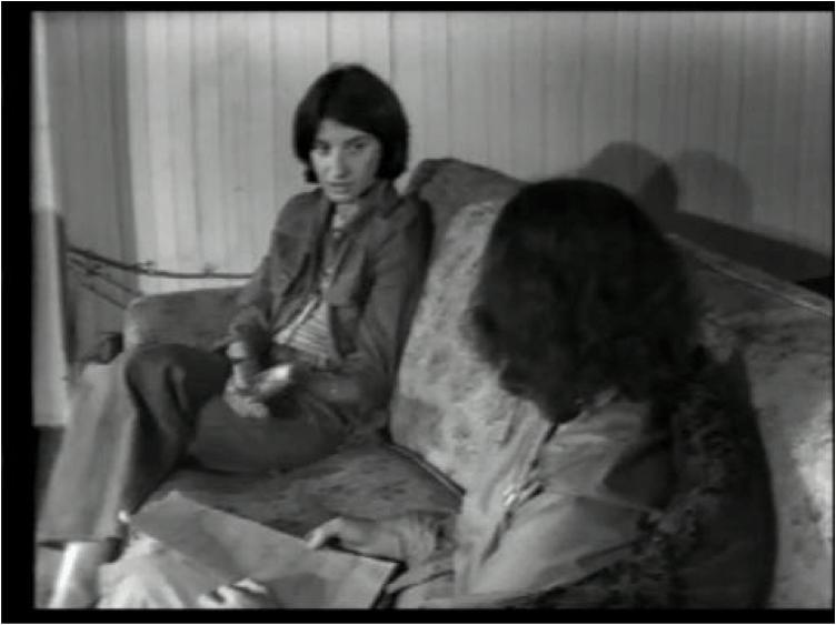 Image : Lucette Bouchard et Rose-Marie Arbour, Entrevue avec Lucette Bouchard, 1976. Photo : Rose-Marie Arbour avec l'autorisa
